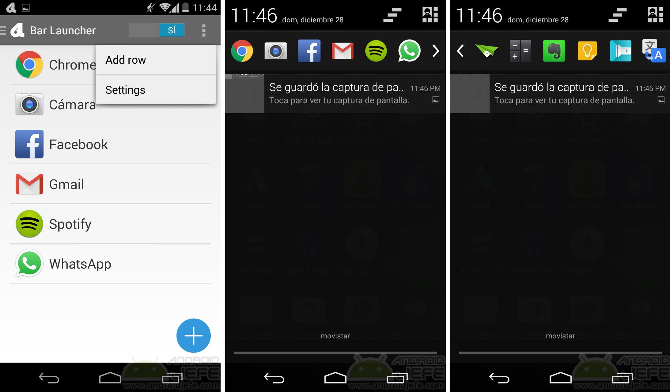 Cómo poner iconos de aplicaciones en la barra de estado de Android