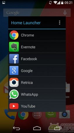 configurar atajo google now home launcher