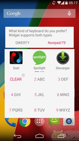 configurar gesto boton inicio appdialer