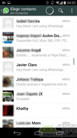 contacto si aparece en whatsapp