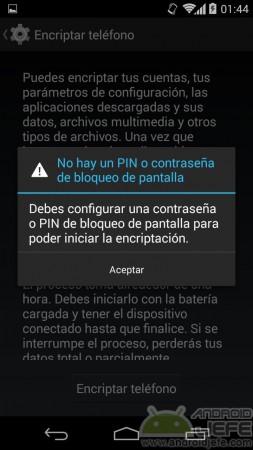 encriptar mi android pin