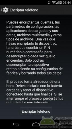 encriptar teléfono android