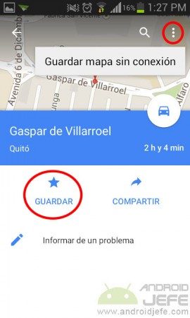 guardar direccion en google maps guardar mapa