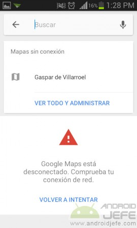guardar direccion en google maps ver offline