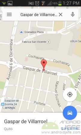 guardar lugar en google maps escribir direccion