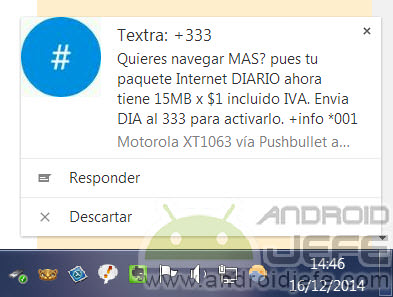 responder sms desde pc pushbullet