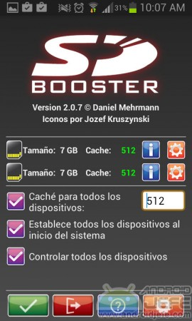 sdbooster mejor valor cache