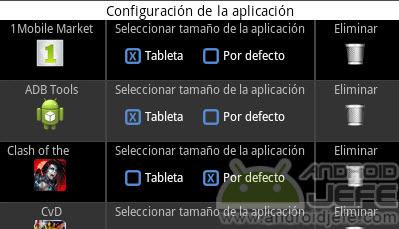 tamaño de pantalla bluestacks conf aplicacion