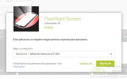 android sin flash pantalla como linterna