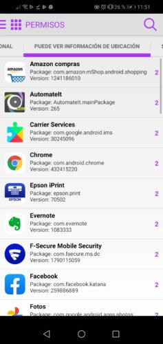 aplicaciones permisos ubicacion