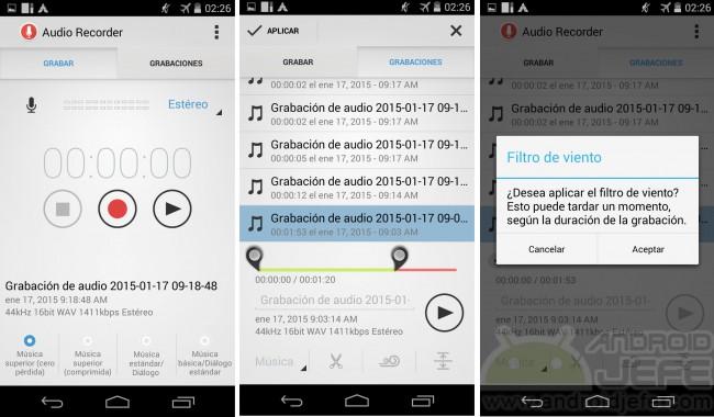 buenos grabadores voz audio moto g otros android audio recorder