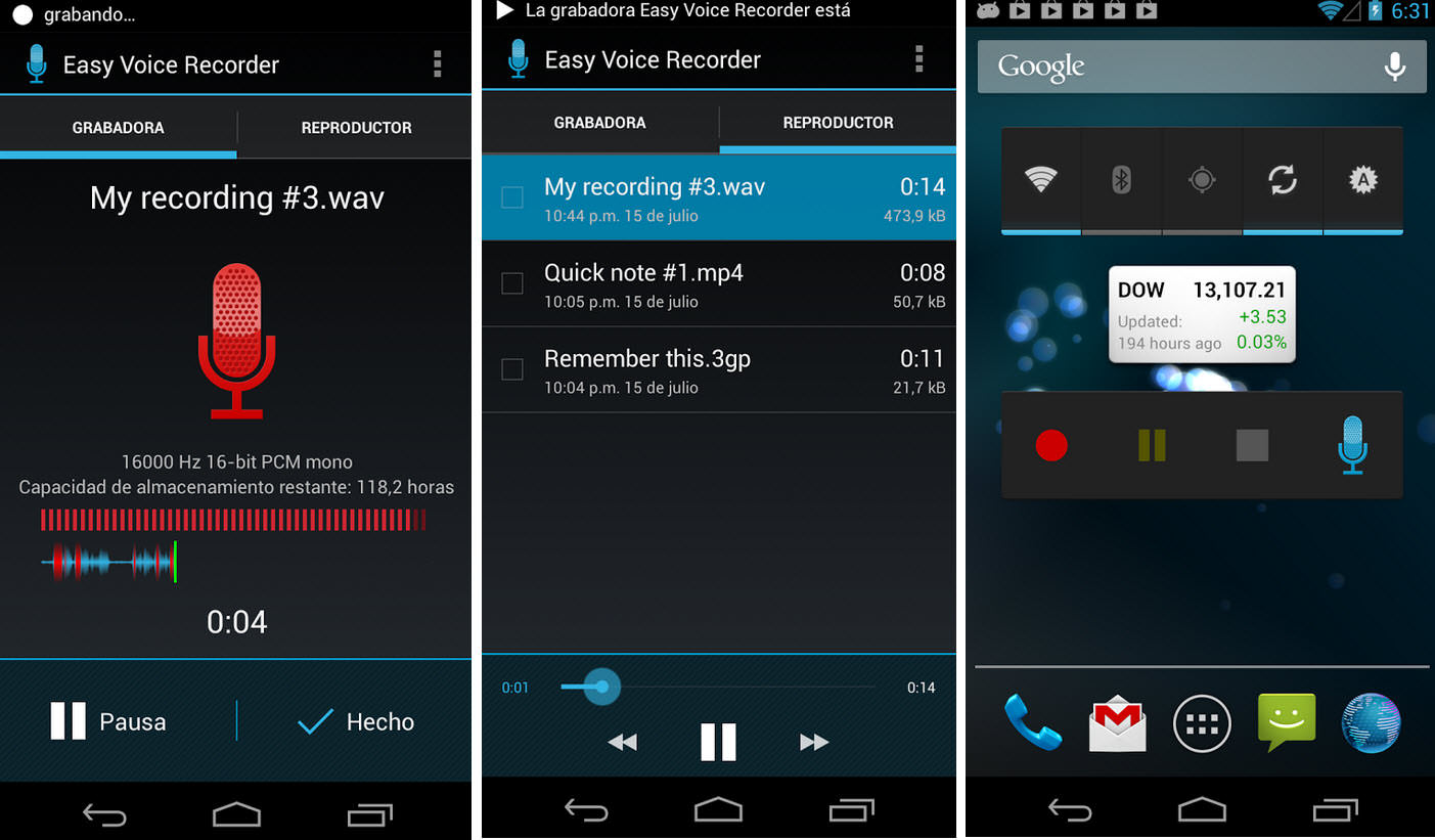 3 APPS para grabar la voz o audio en Android (inc. Motorola)