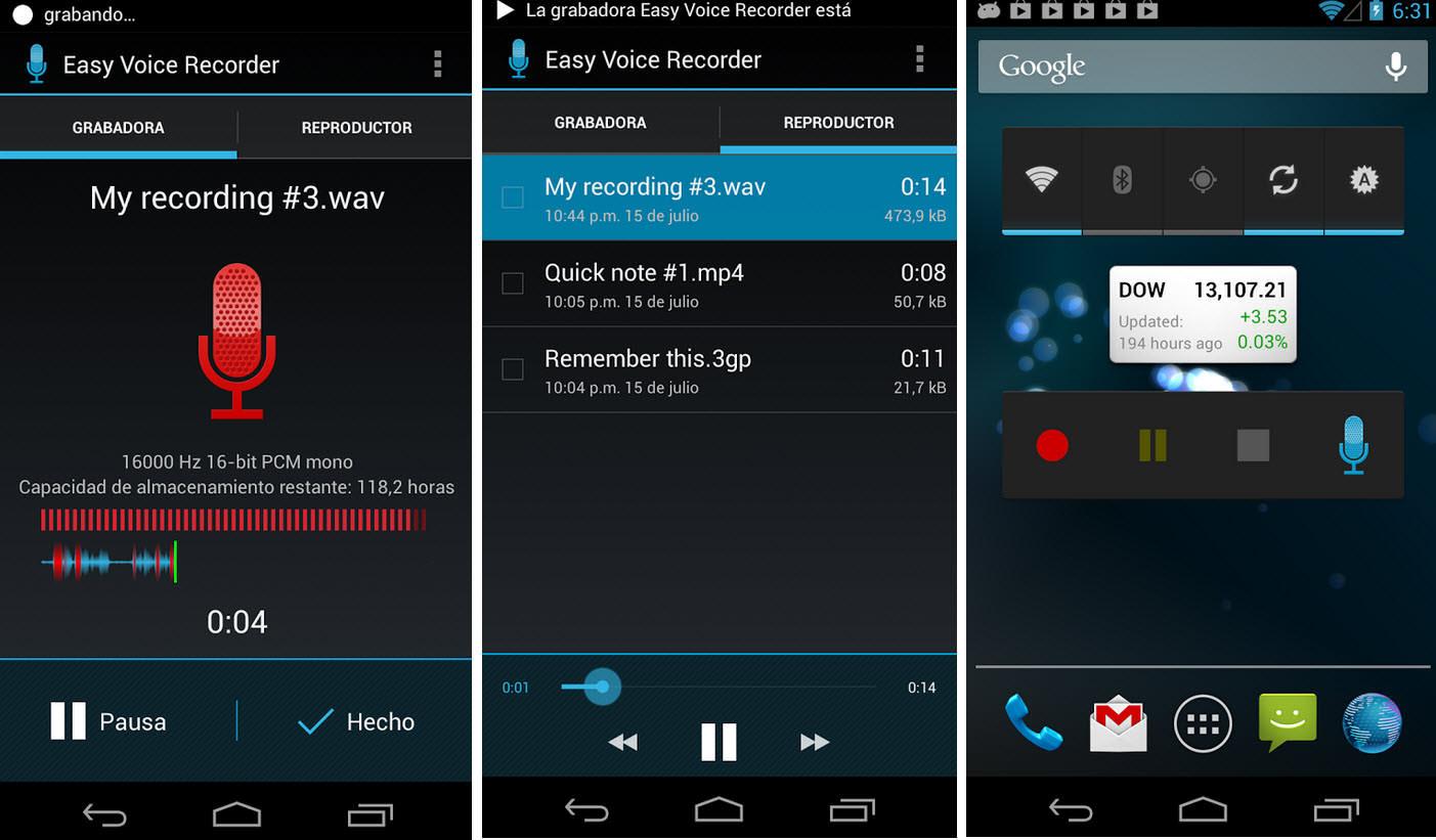 3 buenas grabadoras de voz, audio para Motorola y otros