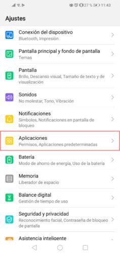 como ver permisos aplicaciones android paso 1
