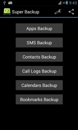 copia de seguridad contactos sms llamadas super backup