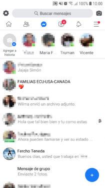 facebook lite mensajes