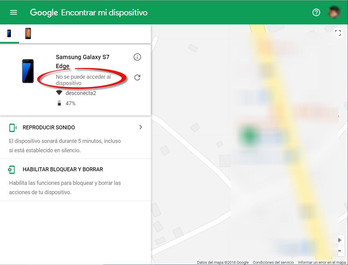 «Ubicación NO disponible» en el Administrador de dispositivos Android: Solución