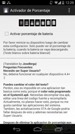 poner porcentaje bateria android activador