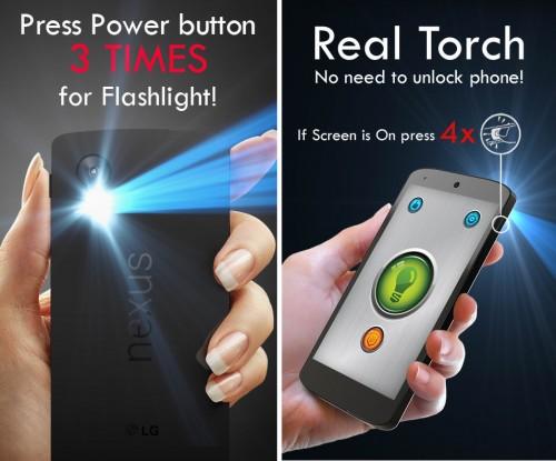 prender linterna boton encendido gratis