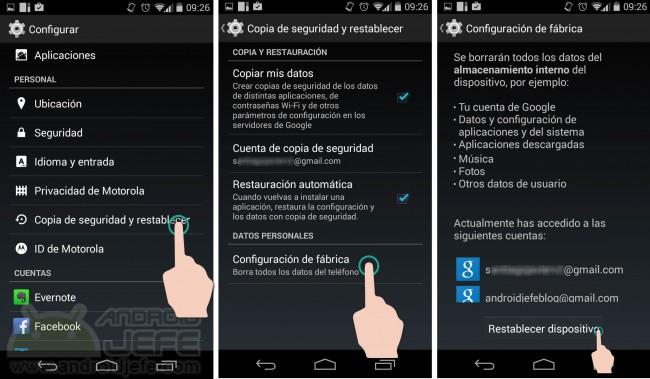que hacer antes de vender regalar android copia seguridad 2