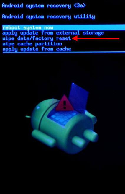 restaurar android de fabrica recovery