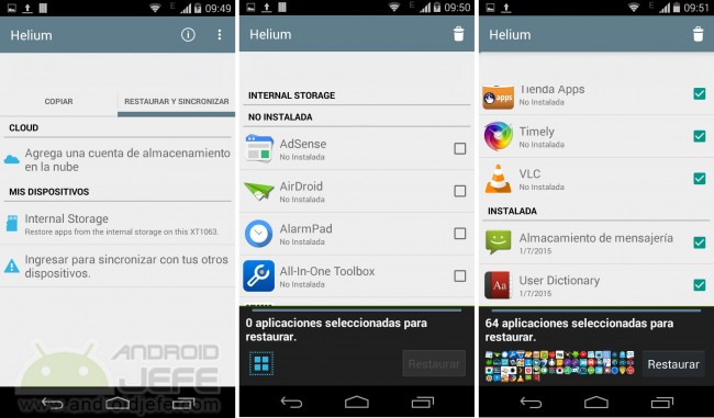 backup apps android
