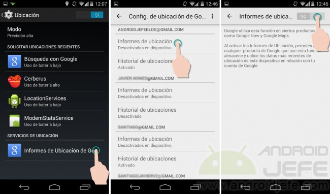 ubicacion no disponible administrador de dispositivos android habilitar
