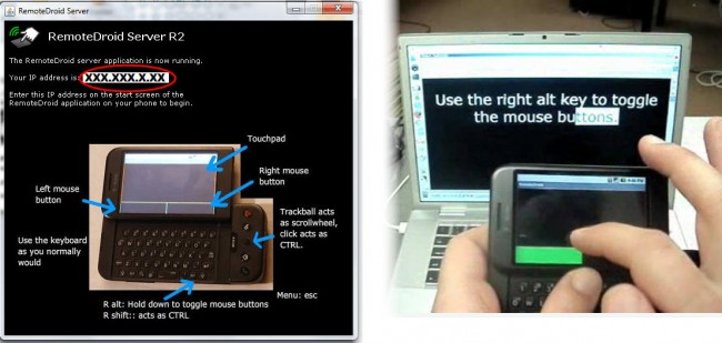 android como raton teclado remotedroid