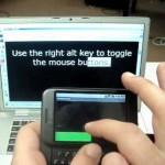 Usar Android como ratón y teclado inalámbrico para el PC