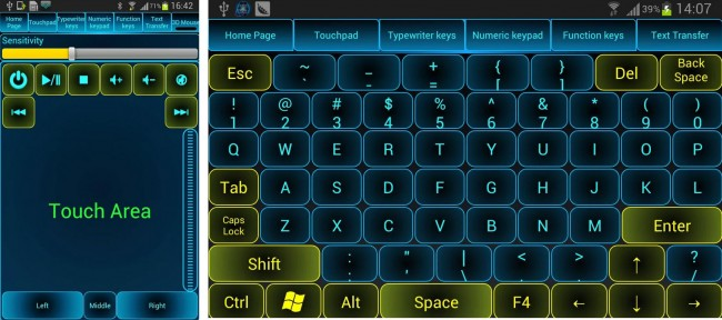 android como raton y teclado monect pc remote