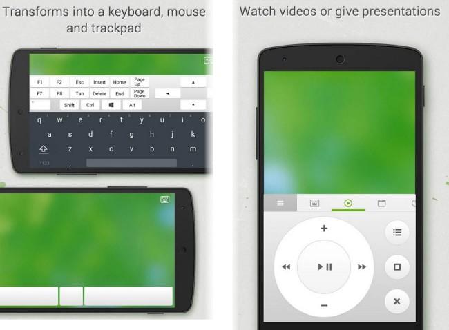 android como raton  y teclado remote mouse