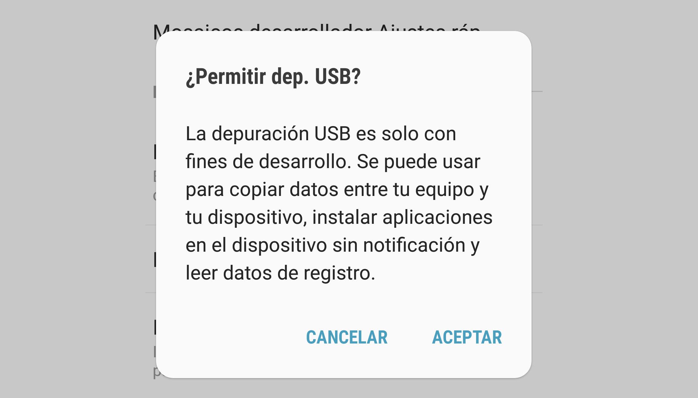 Cómo activar la depuración USB en Android