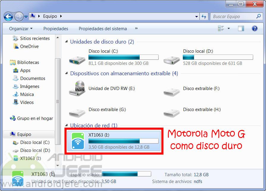 Air Drive: Para montar Android como otro disco duro del PC, sin cables [Windows]