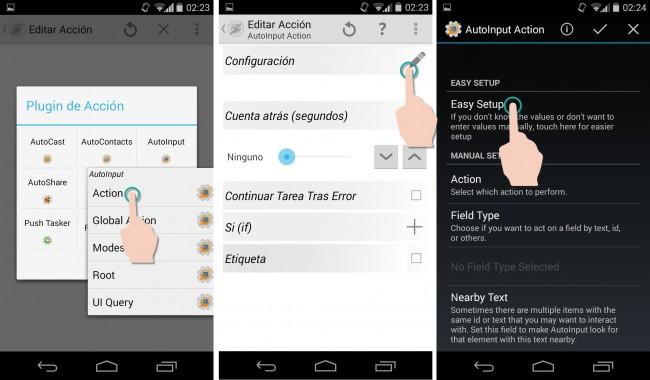 autoinput automatizacion apps tarea