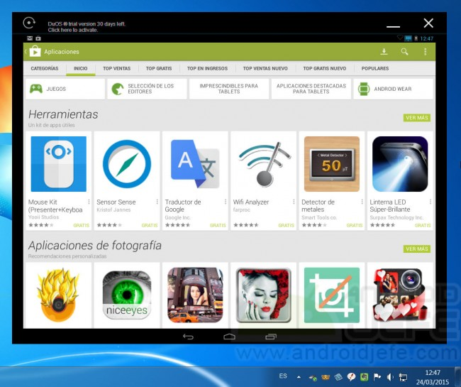 duos instalar android windows apps