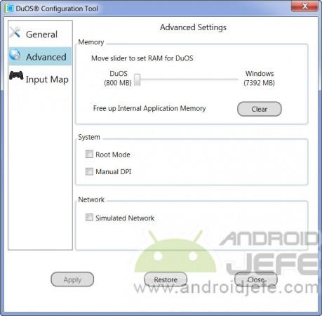 duos instalar android windows configuracion avanzada