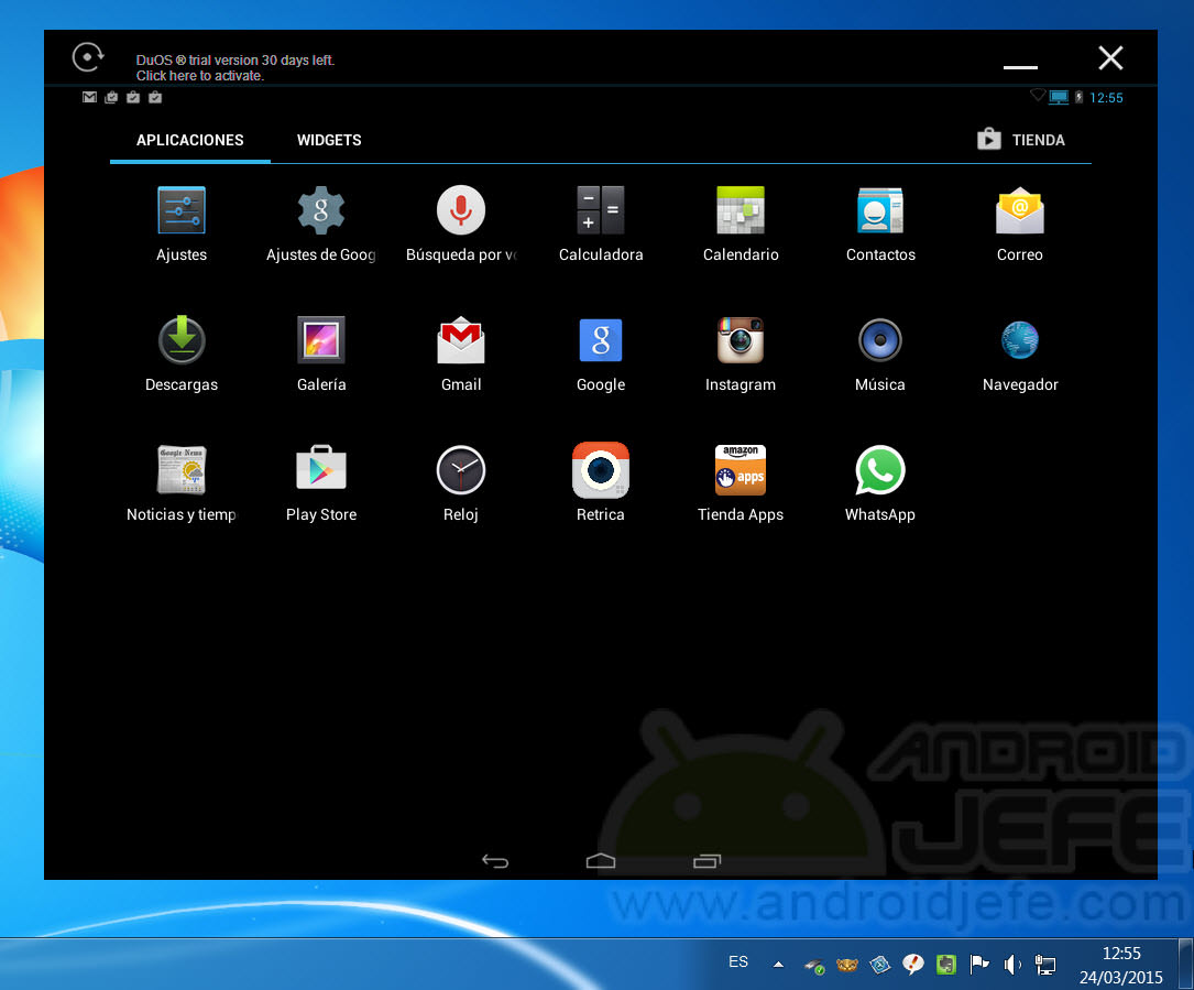 DuOS: instalar Android para Windows 7, 8, 8 1 • Android Jefe