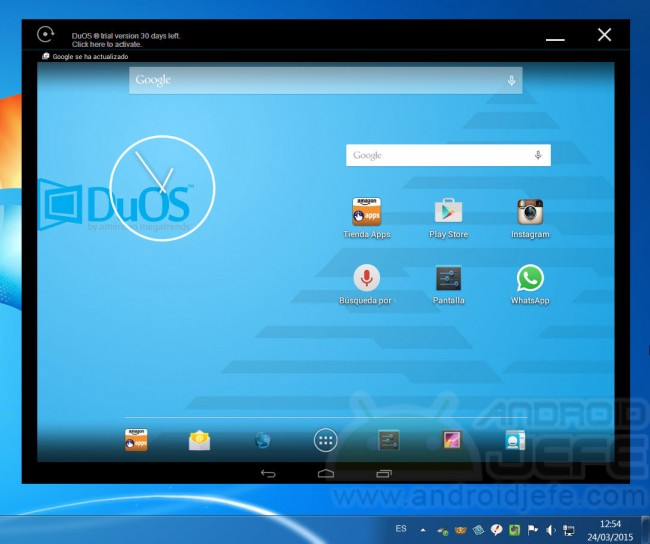 duos instalar android windows home
