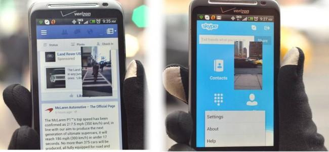 pantalla transparente android cámara flotante