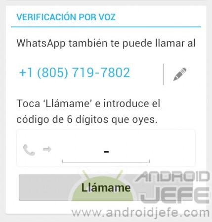 Verificación por voz en WhatsApp