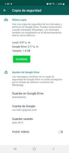 copia de seguridad de whatsapp ajustes 2