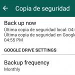 Ya se puede guardar las conversaciones de WhatsApp en Google Drive