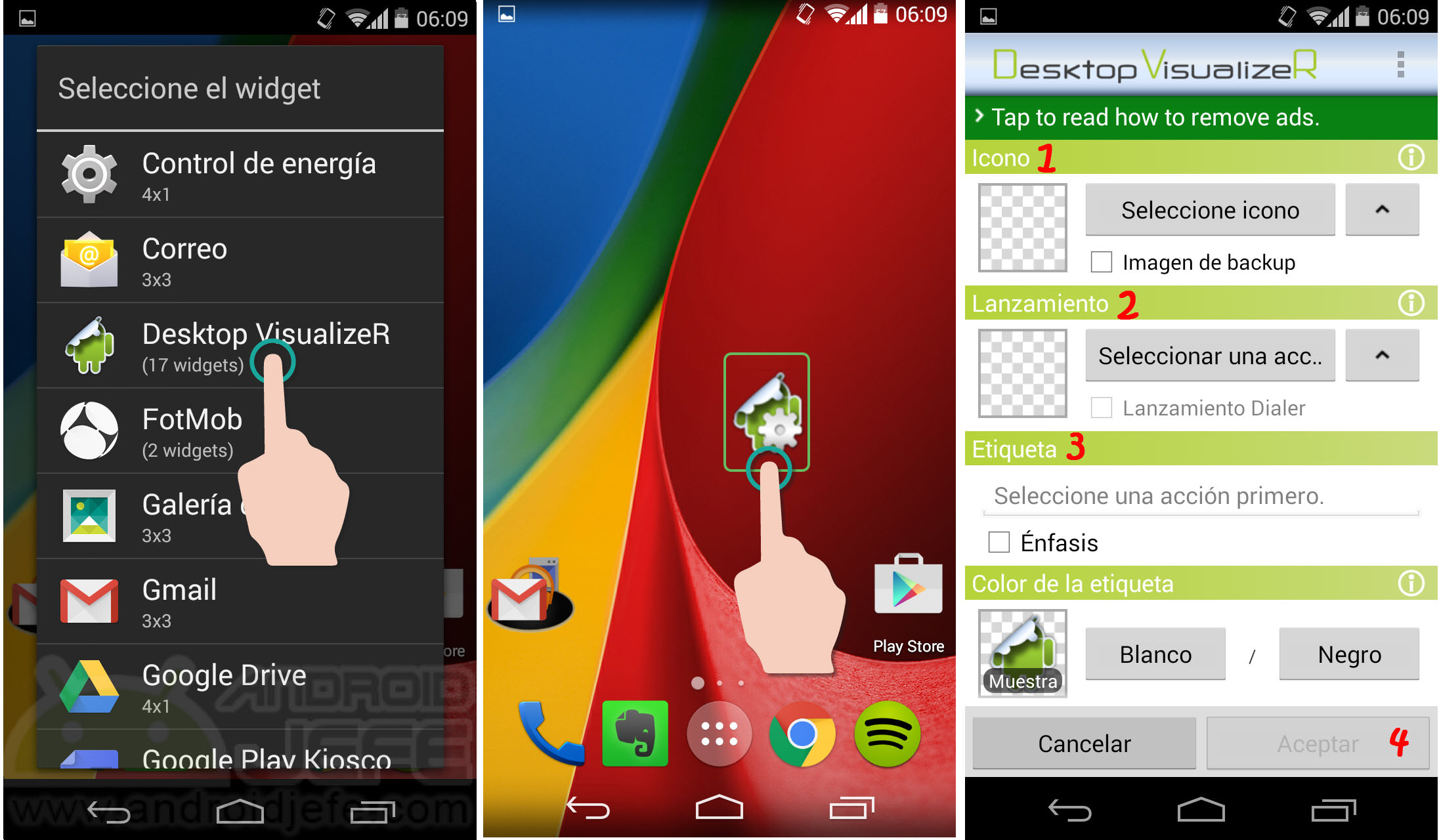 Cómo hacer INVISIBLES los iconos del escritorio en Android