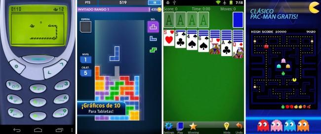 Snake 97, Tetris, Solitario y Pacman para Android