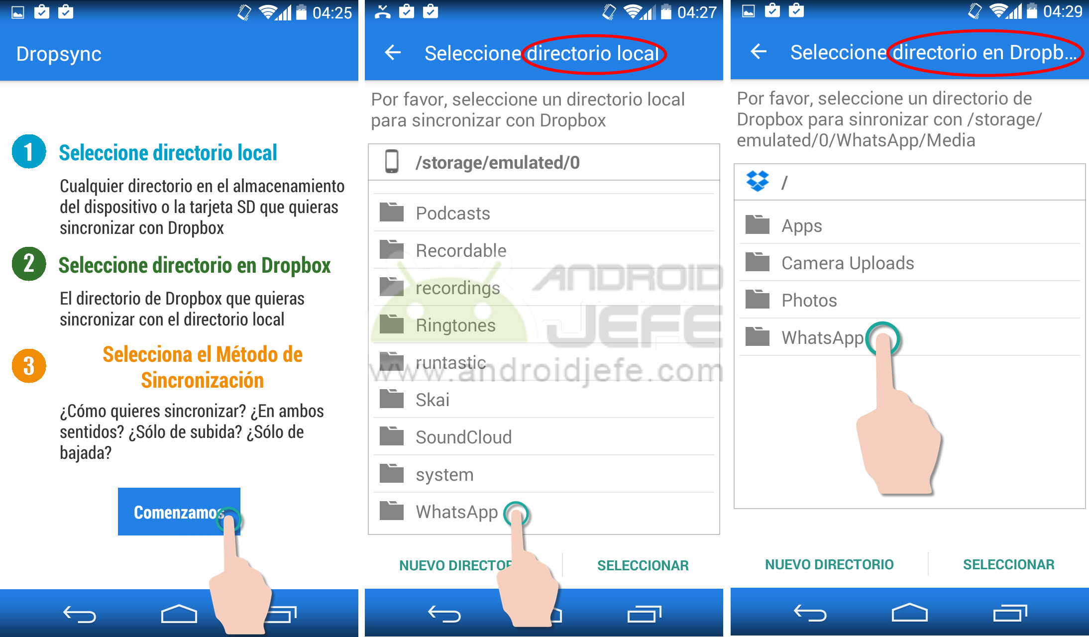 Cómo sincronizar tus chats y fotos de WhatsApp con Dropbox