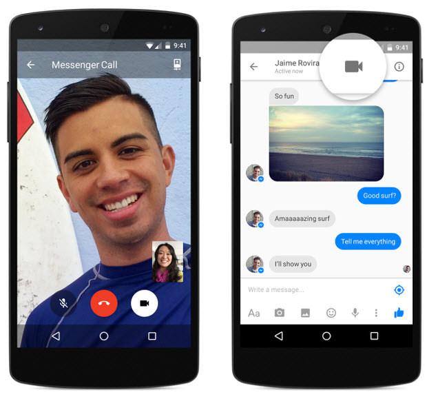 videollamadas facebook messenger android