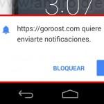 Websites ya pueden generar notificaciones en Android, vía Chrome