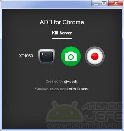 adb para chrome xt1063