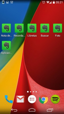 atajos evernote android