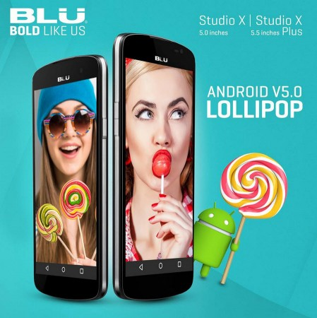 Android Lollipop 5.0 para el BLU Studio X y Studio X Plus. Fuente: Facebook de BLU Products